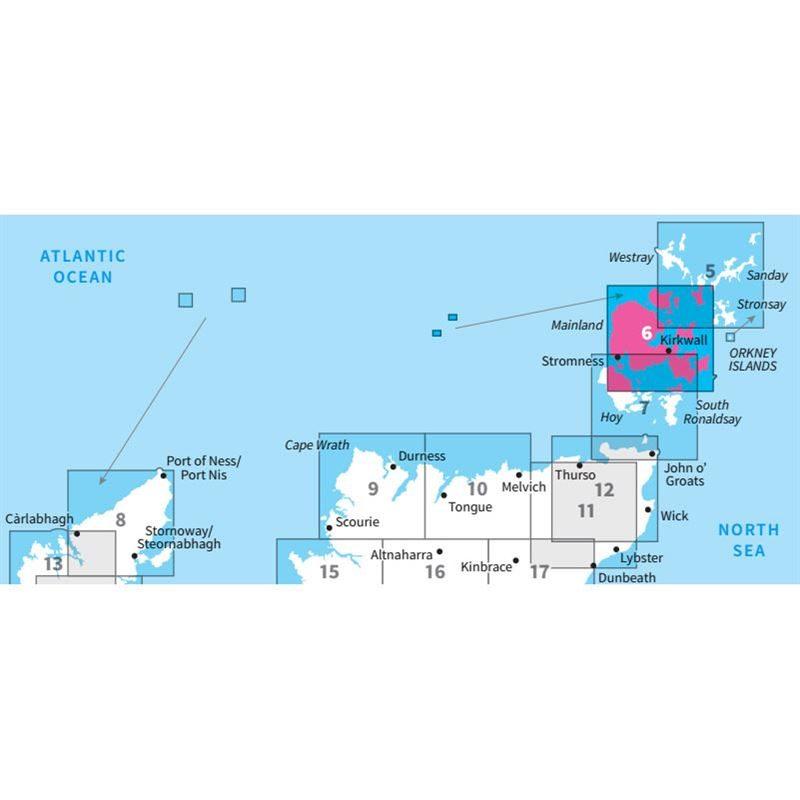 OS Landranger 6 Paper - Orkney - Mainland adjacent