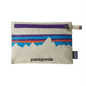 Patagonia Zippered Pouch P-6 Fitz Roy: Bleached Stone