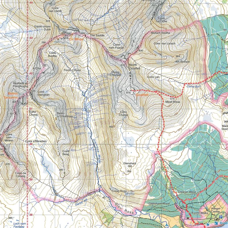 Harvey Ultramap XT40 - Arran detail