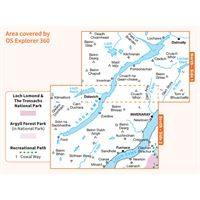 OS Explorer 360 Paper - Loch Awe & Inveraray coverage
