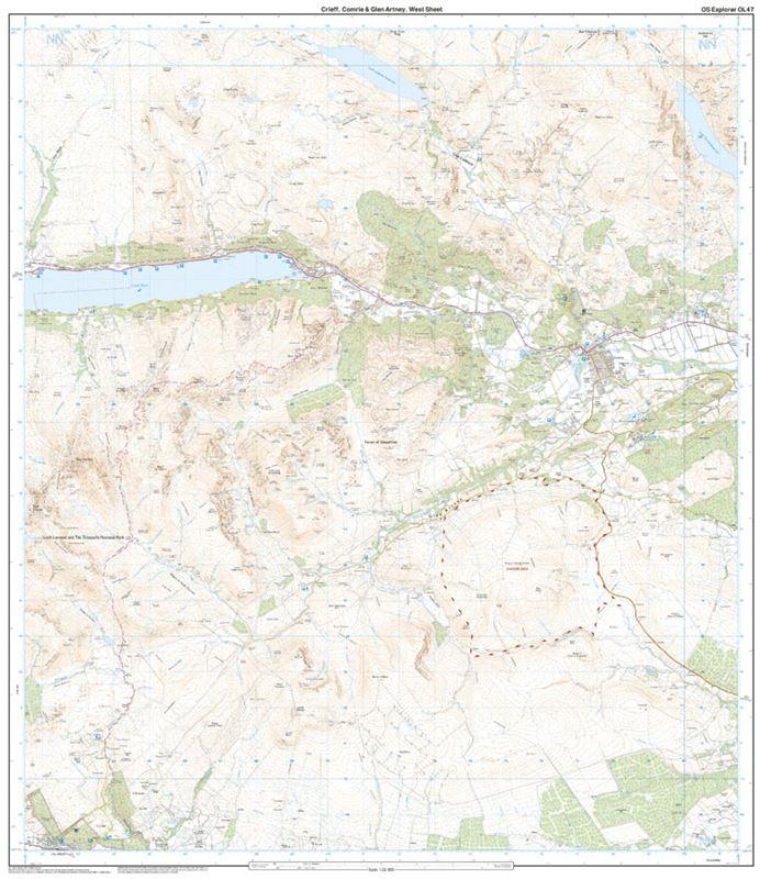 OS OL/Explorer 47 Paper - Creiff, Comrie & Glen Artney west sheet