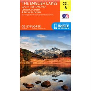 OS OL/Explorer 6 Paper - The English Lakes South-Western Area 1:25,000