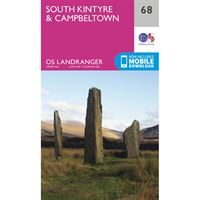 OS Landranger 68 Paper - South Kintyre & Campbeltown