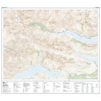 OS Explorer 414 Paper Glen Shiel & Kintail Forest 1:25,000 south sheet