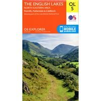 OS OL/Explorer 5 Paper - The English Lakes North-Eastern Area 1:25,000