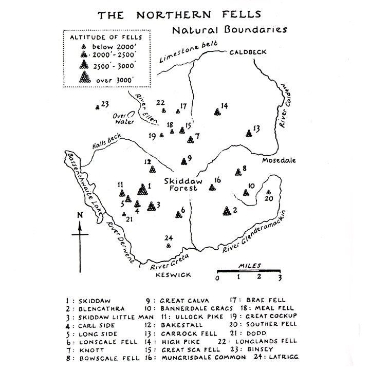 Wainwright - Book 5: The Northern Fells coverage
