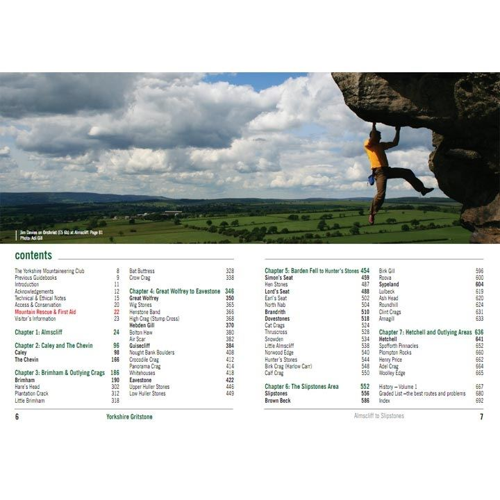 Yorkshire Gritstone Volume 1 contents