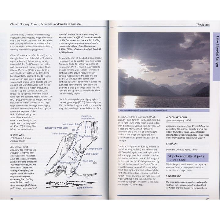 Climbs, Scrambles and Walks in Romsdal pages
