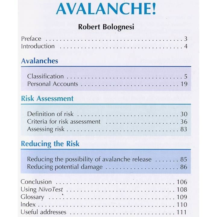 Avalanche contents