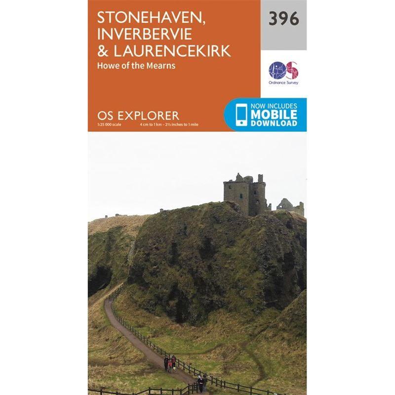 OS Explorer 396 Paper - Stonehaven, Inverbervie & Lawrencekirk