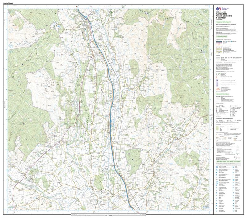 OS Explorer 322 Paper - Annandale north sheet