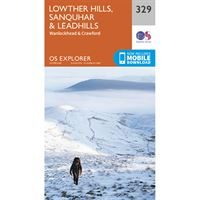 OS Explorer 329 Paper - Lowther Hills, Sanquhar & Leadhills