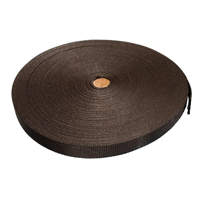 Ace Supplies Black Polypropylene Webbing Tape 50m Roll