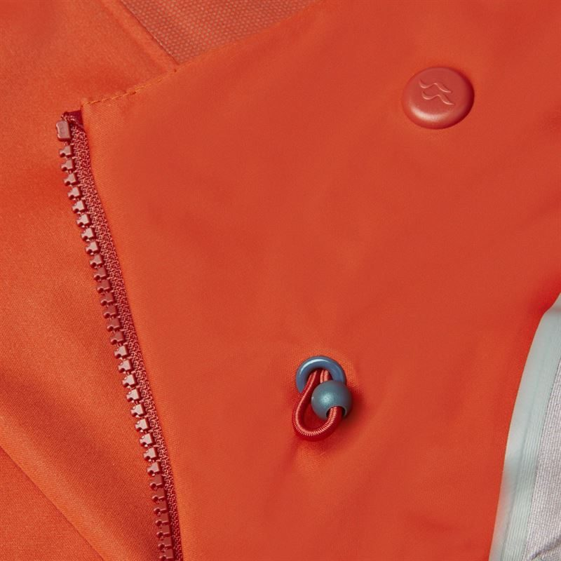 Rab Men's Kinetic Alpine Jacket Firecracker detail