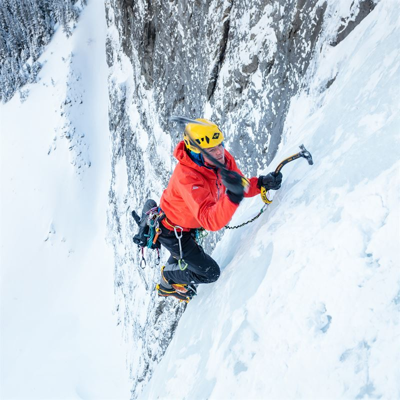 Mountain Equipment Tupilak Jacket in action