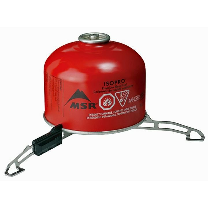 MSR Universal Canister Stand in use