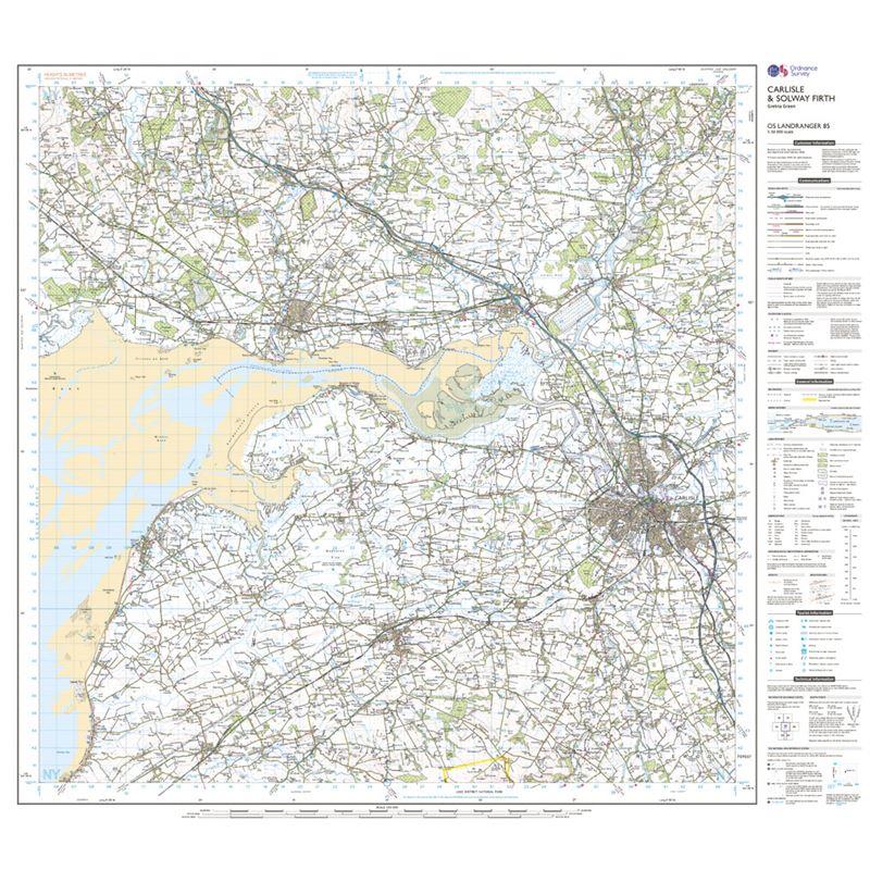 OS Landranger 85 Carlisle & Solway Firth sheet