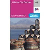 OS Landranger 61 Paper - Jura & Colonsay