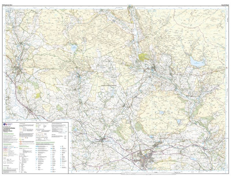 OS OL/Explorer 2 Yorkshire Dales - Southern and Western Areas south sheet