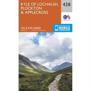 OS Explorer 428 Paper - Kyle of Lochalsh, Plockton, Applecross 1:25,000