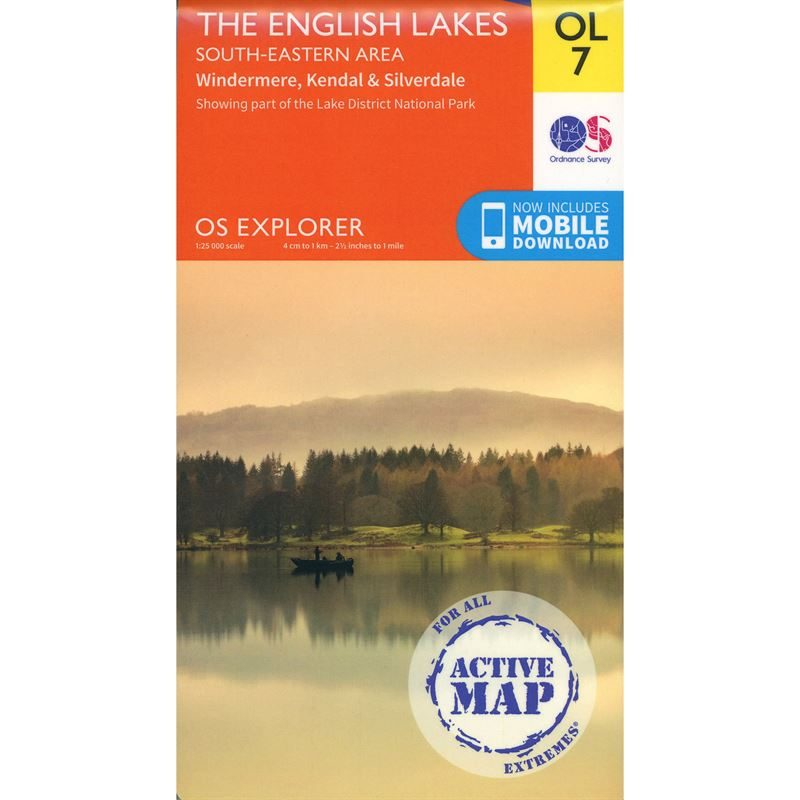 OS OL/Explorer 7 Active - The English Lakes South-Eastern Area 1:25,000