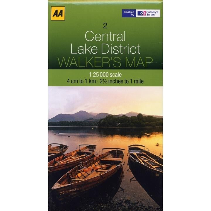 AA/OS Central Lake District 1:25000