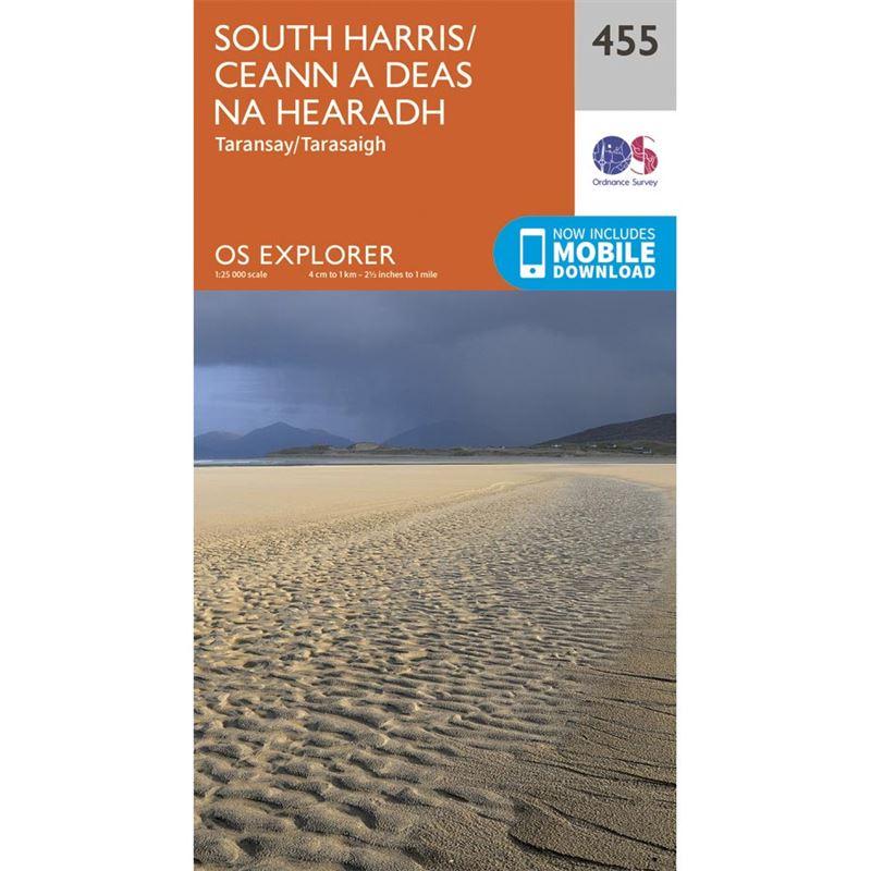 OS Explorer 455 Paper - South Harris