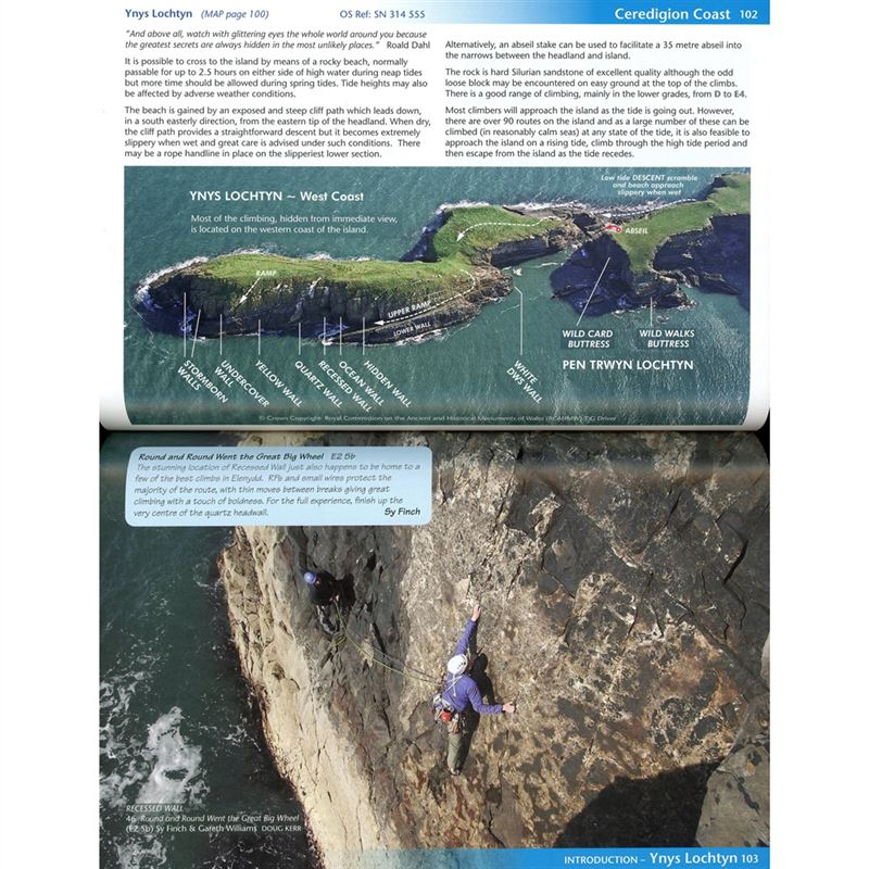 Central Wales - A guide to Climbing and Bouldering in Elenydd pages
