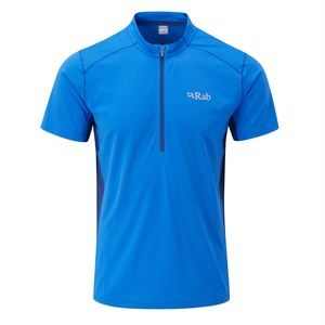 Rab Men's Sonic Zip Short Sleeve Polar Blue