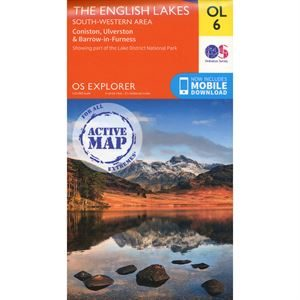 OS OL/Explorer 6 Active - The English Lakes South-Western Area 1:25,000