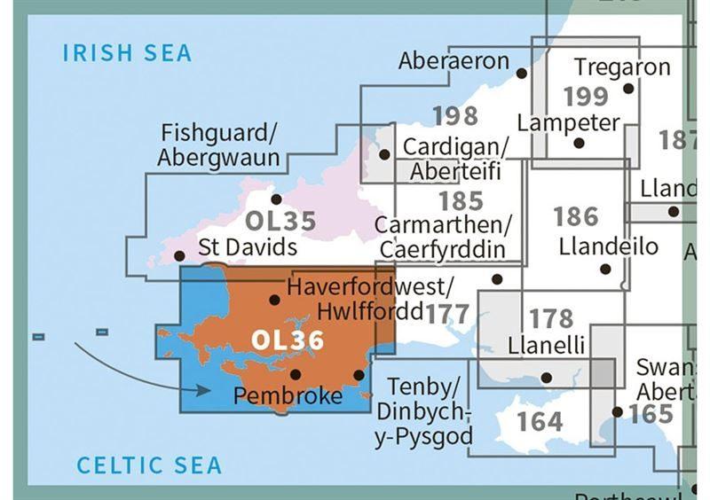 OS OL/Explorer 36 Paper - South Pembrokeshire adjacent