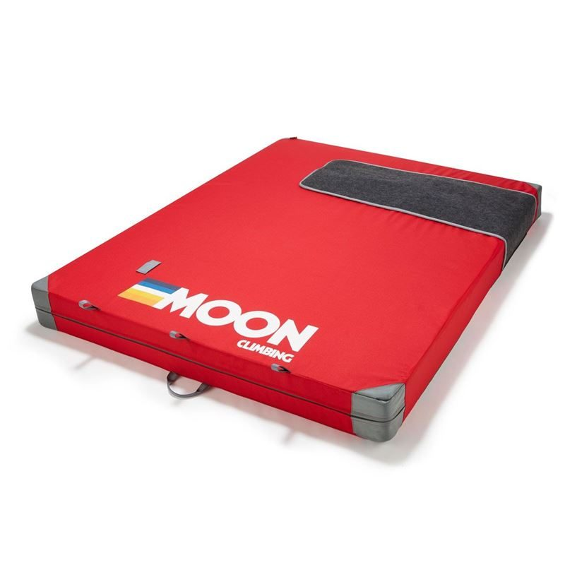 Moon Saturn Crashpad Retro Stripe True Red