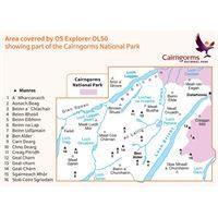 OS OL/Explorer 50 Paper - Ben Alder, Loch Ericht & Loch Laggan coverage