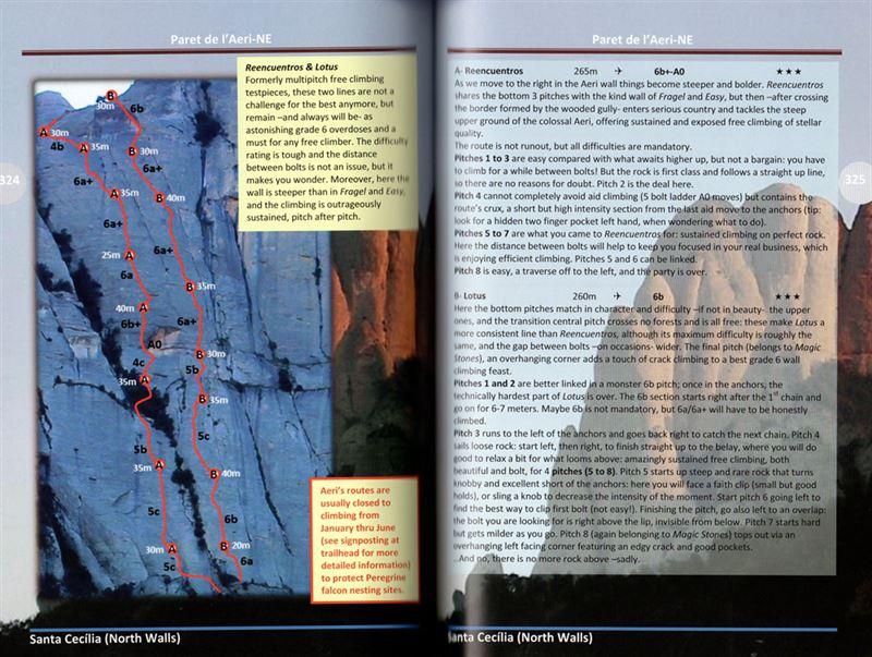 Montserrat Free Climbs pages