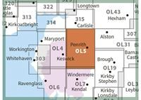 OS OL5 The English Lakes North-Eastern Area Active adjacent
