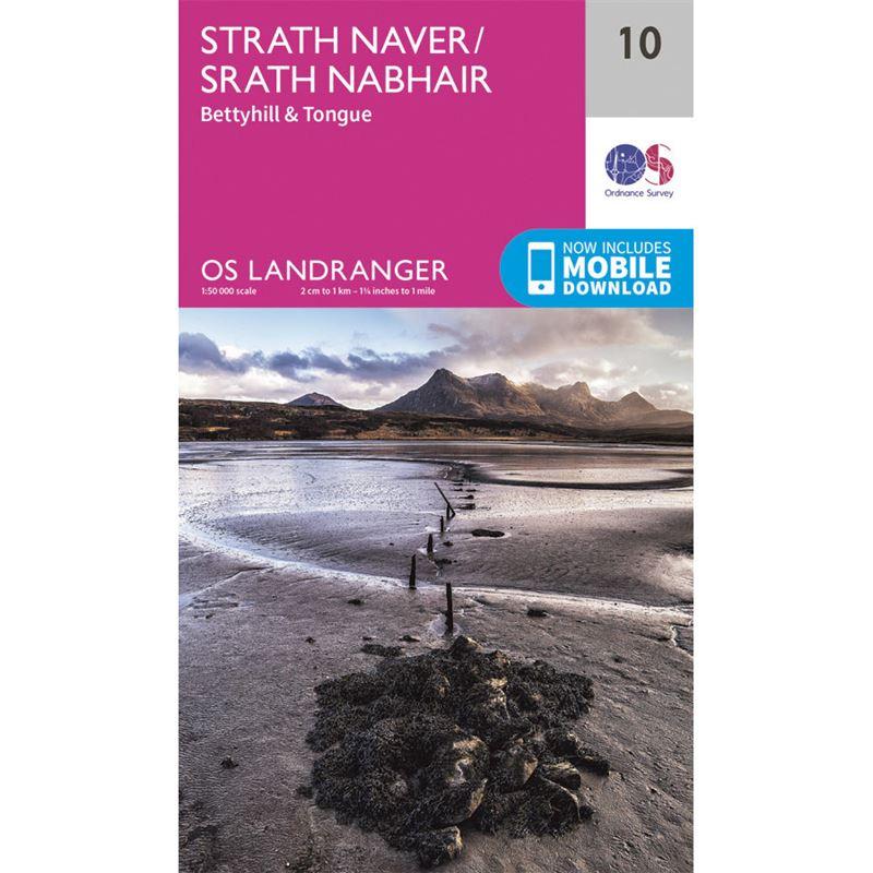 OS Landranger 10 Paper Strath Naver 1:50,000