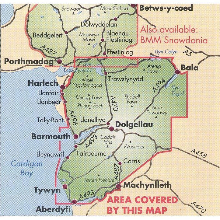 BMC Waterproof Mountain Map - Snowdonia South coverage