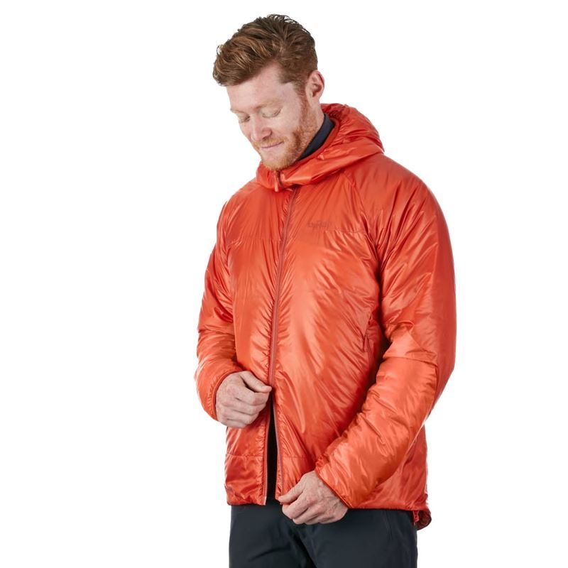 Rab Men's Xenon Jacket Firecracker in use