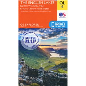 OS OL/Explorer 4 Active - The English Lakes North-Western Area 1:25,000