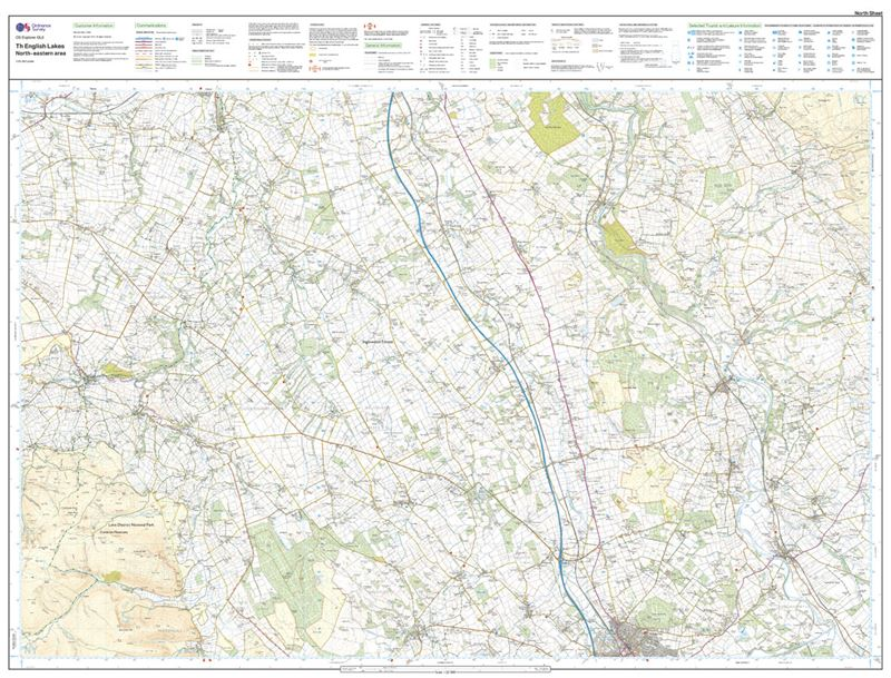 OS OL5 The English Lakes North-Eastern Area Active north sheet