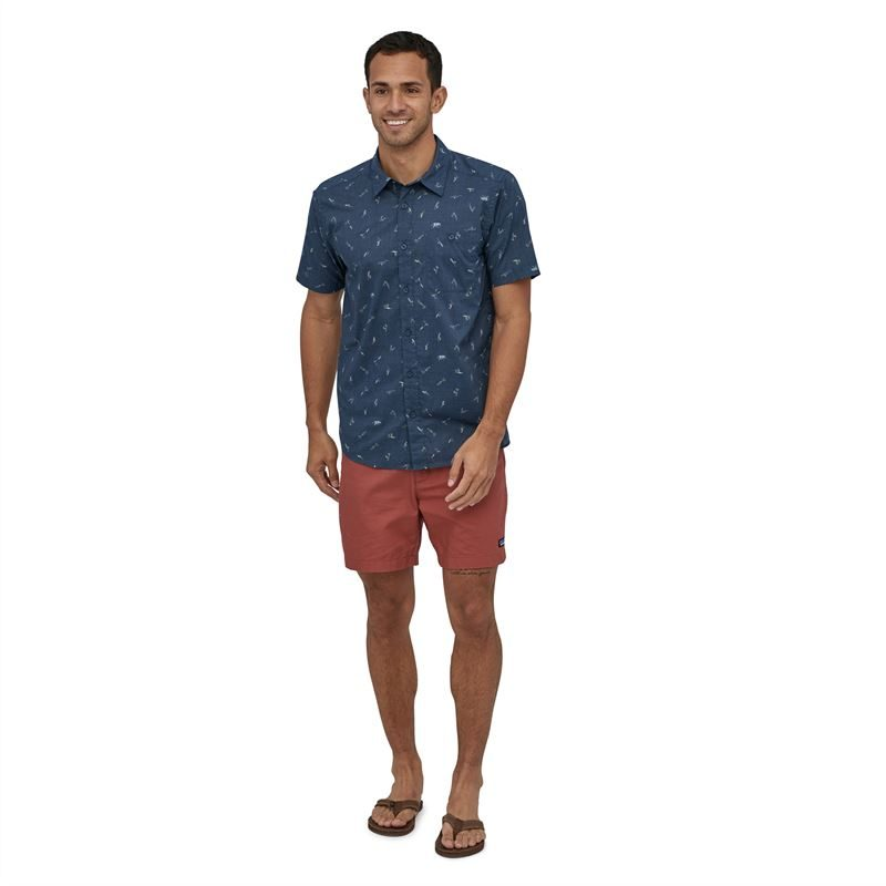 Patagonia Men's Go To Shirt Surfers: Stone Blue
