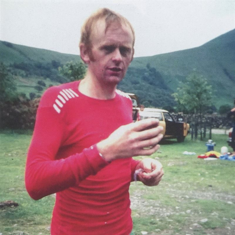Billy Bland at Wasdale en route to setting the Bob Graham Round record in 1982 (Martin Stone)