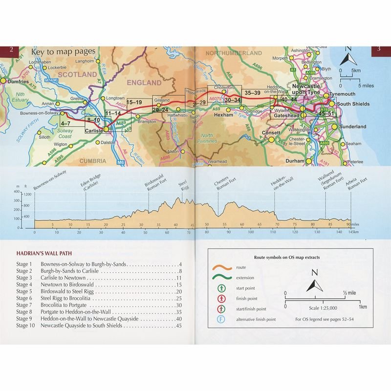 Walking Hadrian's Wall Path Map Booklet coverage