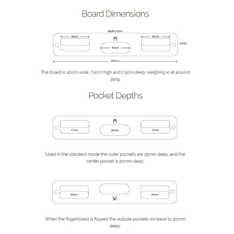 Ash Portable Fingerboard dimensions