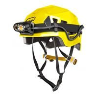 Grivel Stealth Helmet Yellow showing headtorch fitting
