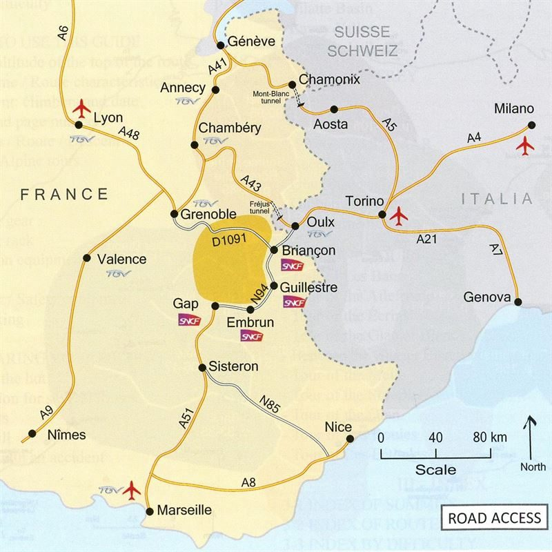 Classic Routes in the Écrins location