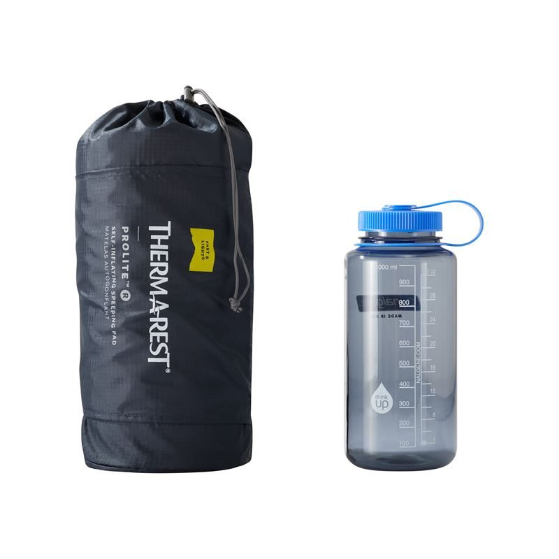 Thermarest ProLite Regular with 1 Litre Water Bottle for comparison