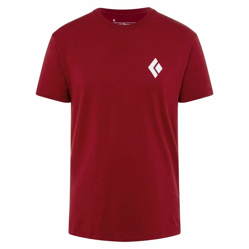 Black Diamond Men's Double Diamond Tee Dark Crimson