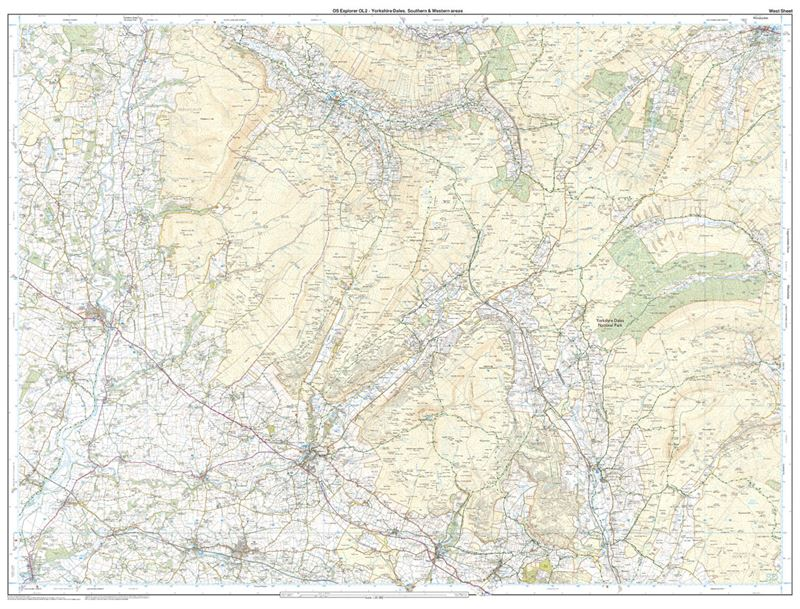 OS OL/Explorer 2 Yorkshire Dales - Southern and Western Areas west sheet