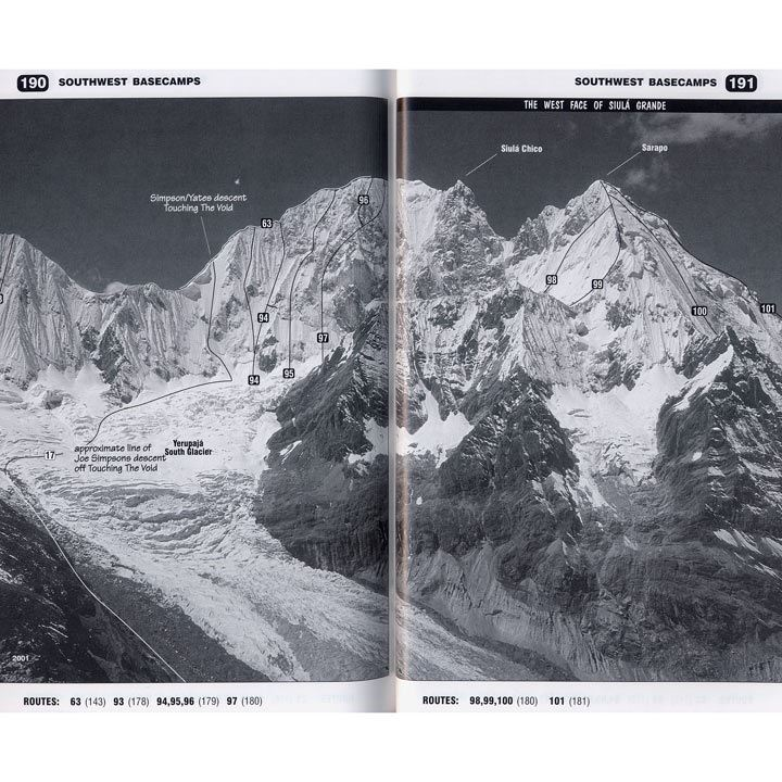 Climbs and Treks in the Cordillera Huayhuash of Peru pages